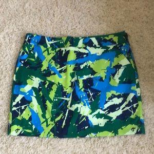 Loudmouth Golf Skort Short SZ 14 Green Blue NWOT